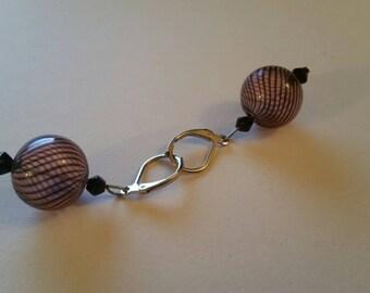 Purple Orb Earrings