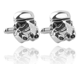 Men's Cuff Links - Storm Trooper Helmet Star Wars