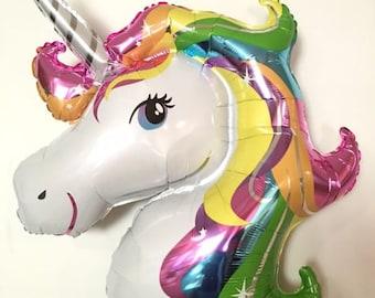 83cm Rainbow Unicorn/Fantasy Horse Birthday Party Supershape Foil Balloon