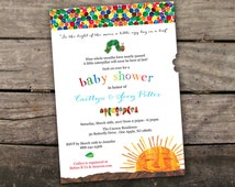 Printed or Digital Hungry Little Caterpillar Invitation Children's Classic Storybook Baby Shower Invitation Book Baby Shower Invitation
