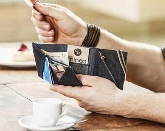 mineD DEALER - upgecycled denim wallet