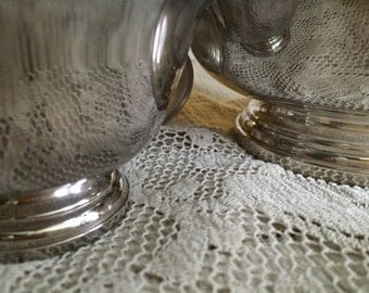 Silverplate Revere Bowls 6.5In and 3,5 in Set of 3 Vintage 2 small 1 large Gorham and Reed and Barton