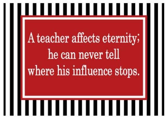 Teacher Magnet Teacher Affects Eternity Custom