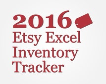 2016 Etsy Inventory Excel Spreadsheet | Manage Your Etsy Shop Inventory by Auto Tracking Stock Levels Profits and Costs | Shop Organization