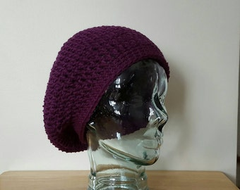 Crochet Slouchy Hat/Beanie/Beret/Crochet Slouch Hat/Women/Teens - Made to Order