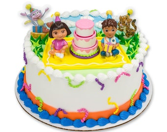 Dora Cake Topper Kit/ Dora Birthday Cake Topper/ Dora Birthday Party Cake/ Dora Cake Kit