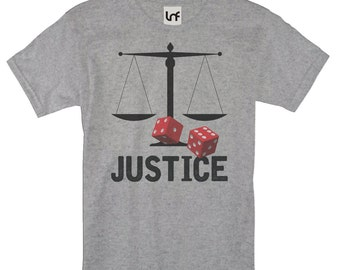 Justice Scales Casino Dice Men's T-Shirt (SB1164)