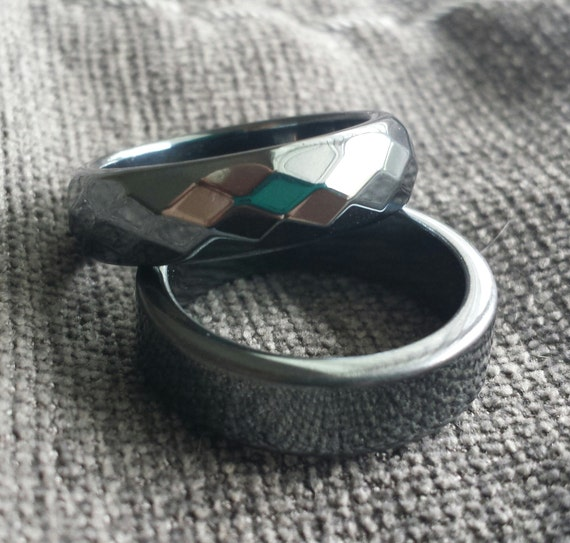hematite ring faceted a ring with by storyinjewelry