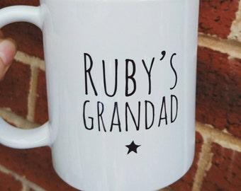 Personalised Father's day mug grandad dad daddy