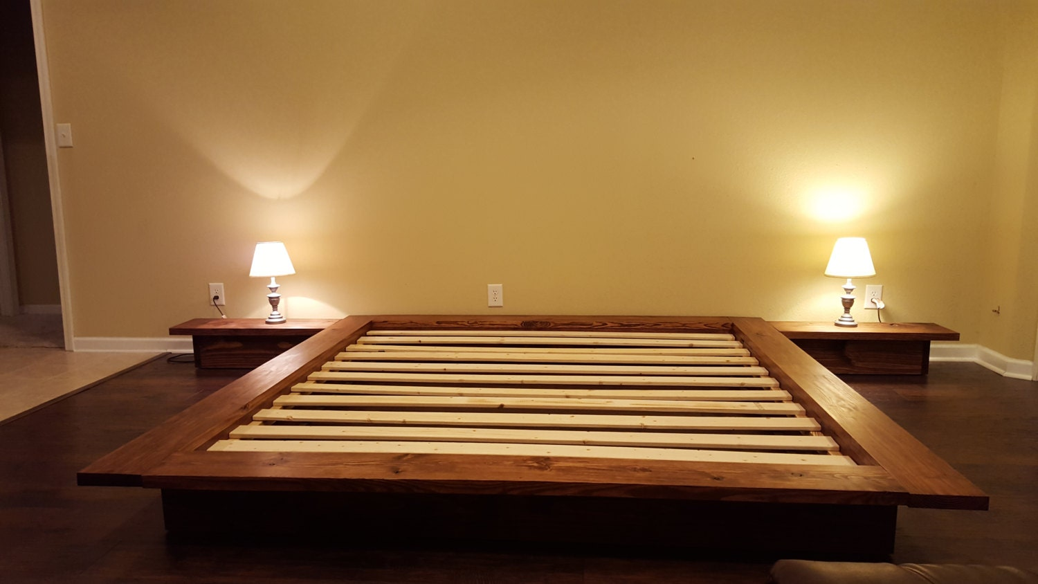Floating Platform Bed Wide Ledge Bed Loft Bed Low By