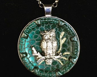 Victorian Owl Necklace