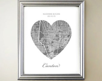 Canton Heart Map
