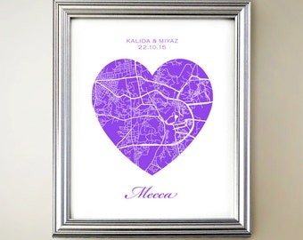 Mecca Heart Map