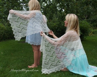 Estonian Lace, Haapsalu shawl - Lily-of-Valley for a little princess