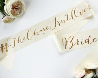 Bridal Sash Custom Double-Sided Upgrade