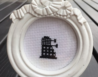 Dalek cross stitch