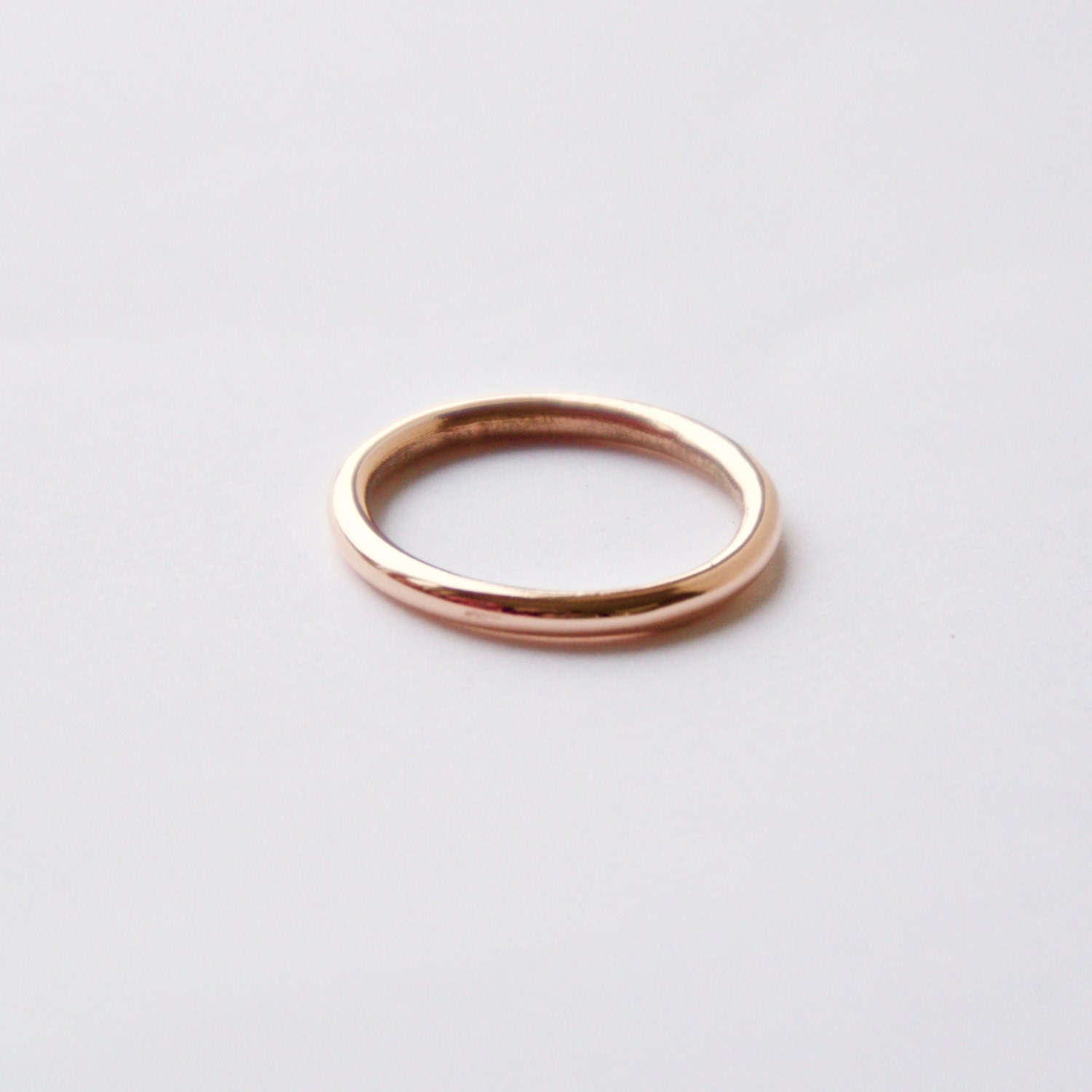 Rose Gold Wedding Band Halo Ring 9 Carat