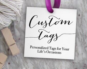 Custom Tags // Printable Custom Wedding Tags, Favor Tags, Gift Bag Tags, Bridal Shower Tags, Party Favor Tags & More  // Square Template PDF