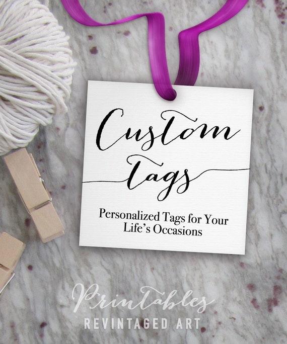 tags for gift bags template - custom tags printable custom wedding tags favor tags