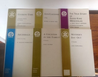Six Plays, French's Acting Editions. 1970's