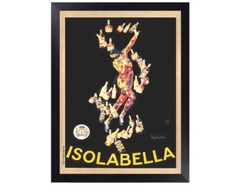 Isolabella, 1910, by Leonetto Cappiello Print. Framed Options Only