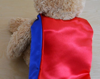 Superhero Cape for Doll-Superhero Cape for Teddy Bear-Superhero Cape for Plush-Doll Cape-Plush Cape-Stuffed Animal Cape-Tiny Superhero Cape