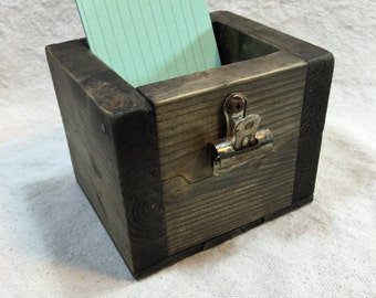 Reclaimed Wood Rustic-Inspired Index Card Holder