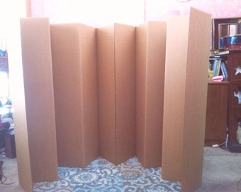 Etsy Your Place To Buy And Sell All Things Handmade - Diy cardboard room divider privacy screen