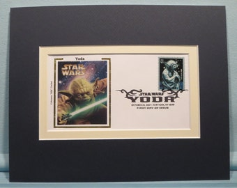 Star Wars -  Jedi Master Yoda and the First day Cover of his own stamp