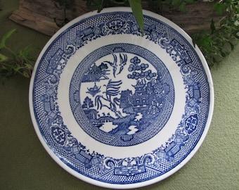 Blue Willow Ware Plate Unique Design