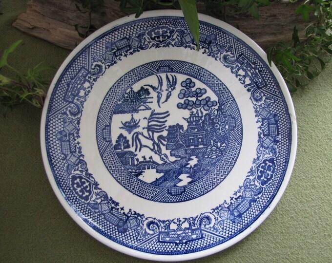 Vintage Blue Willow Ware Plate Unique Design