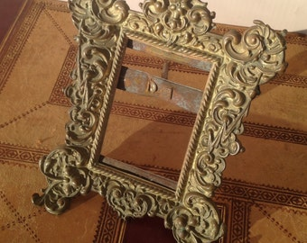 Picture Frame of Embossed Brass