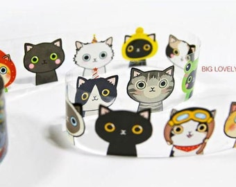 Cute & Kawaii Cats Designed Illustration Multipurpose Mini Tape