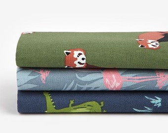 Animal - Quarter Fabric Pack 3 Oxford Fabric 1 set - Sets for 3 each 45 X 55 cm