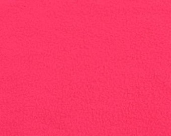 Fabric by the 1/2 Yard - Solid Neon Pink Polar Fleece Fabric