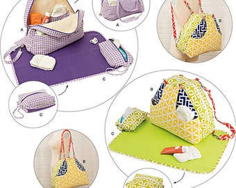 Simplicity Sewing Pattern 8031 Convertible Diaper Bags and Changing Pads
