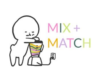 Mix + Match / x4 Card Mix Pack / HOT DEALZ!