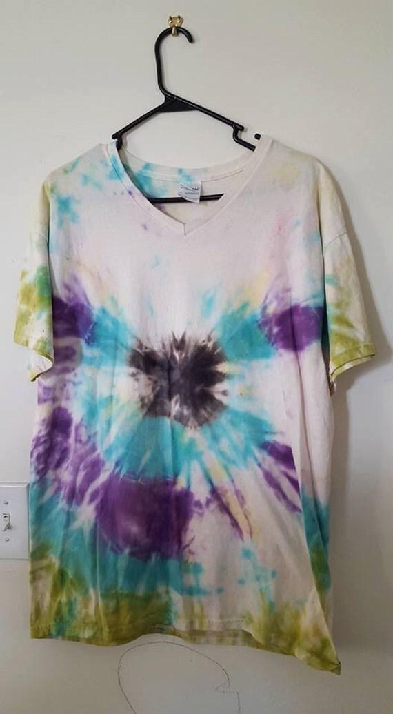 Festival shirt tie dye t shirt swimsuit cover up beach for Custom tie dye t shirts