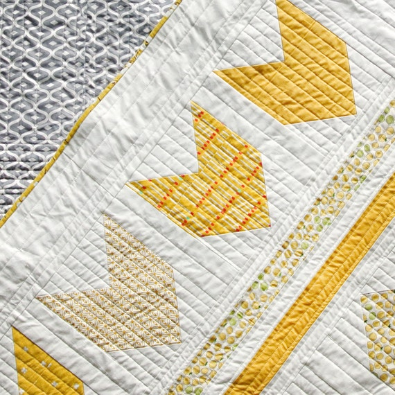 Bow & Arrows Quilt Pattern PDF Download - Modern Patterns for Baby and Throw Sizes, Easy ...