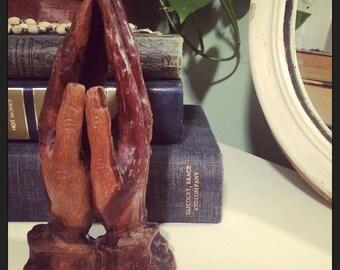 Vintage Wooden Handmade/Handcarved Praying Hands