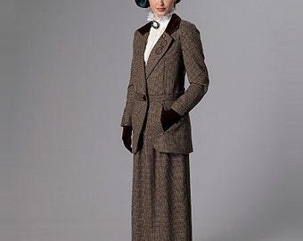 Butterick Pattern B6337 Notch-Collar Jackets and Floor-Length Skirts