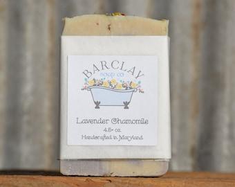 Lavender Chamomile Soap, Natural Artisanal Soap, Vegan Friendly