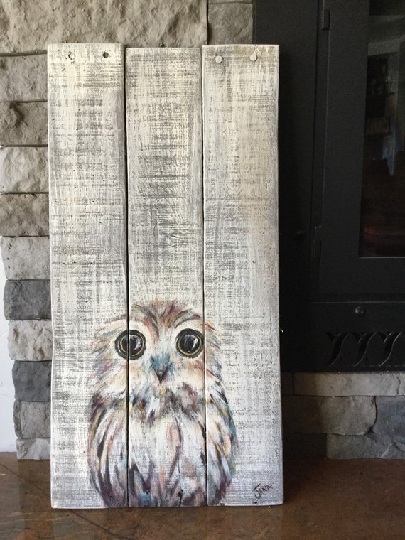 Owl Painting On Wood By Woodcreationsbyjana On Etsy