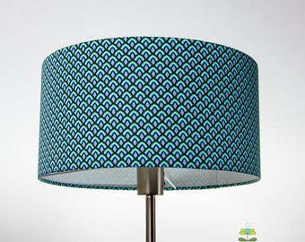 Drum lampshade Bluescales