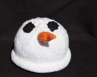 Newborn - Snowman - knit baby hat - baby knit hat  - baby hat knit - newborn knit hat - knit hat newborn - newborn photo prop