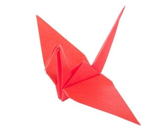 Red Birds Party Decorations | Red Origami Cranes
