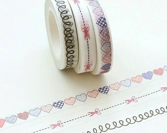 Set of 3 Thin Washi Tapes