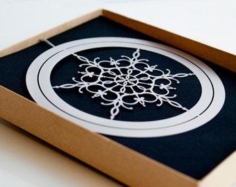 Metal Snowflake Ornament in Gift Box