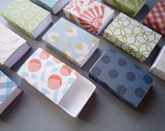 Assorted patterns matchboxes/ Slide box/ Jewelry Packaging Boxes/ Gift box/ Packaging box/ Party favor box/ Southern Charm/ Set of 12