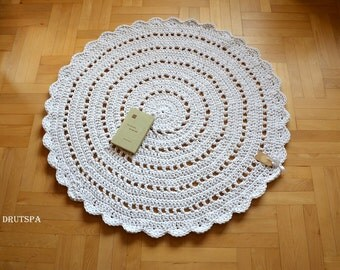 promotion many colors rond tapis crochet nursery rugs round teppich rund alfombra trapillo modern large floor white rug rustic houseware - Tapis Rond Color